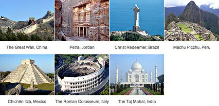 Image result for the seven wonders of the world